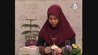 آموزش درست کردن گل برای تزئین پایین جام با خمیر چینی