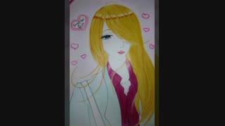 نقاشی انیمه ای جدیدم!!