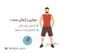 موشن گرافیک - تاثیرات آب بر بدن انسان