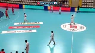 دیدار  تیم های ملی هندبال تونس و ژاپن درقهرمانی جوانان جهان2019