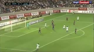 خلاصه بازی دوستانه بارسلونا (1) - چلسی (2)