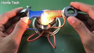 تکنولوژی روشن کردن لامپ بدون نیاز به برق