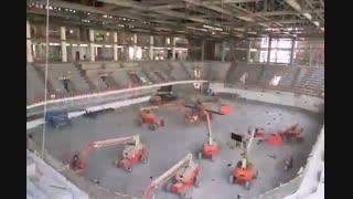 مراحل ساخت استادیوم هندبال در قطر