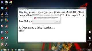 How to FIX D3DCOMPILER 43 dll Problem When Playing Battlefield 3, Ghost Sniper or Another Games
