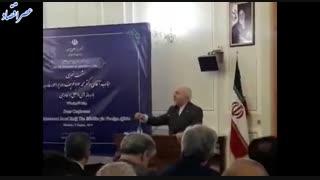 ظریف:  وقتی کشوری وزیر امور خارجه کشور دیگر را تحریم می کند یعنی در گفت و گو و دیپلماسی شکست خورده است