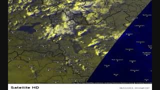 تصاویر ماهواره هواشناسی شمال غرب ایران مورخ 98/05/12