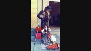 تلفیق دو هنر عروسک گردانی و نوازندگی