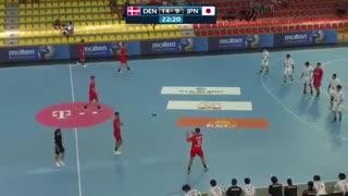 دیدار  تیم های ملی هندبال دانمارک و ژاپن  در قهرمانی نوجوانان جهان2019