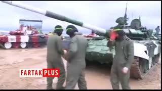 قدرتنمایی تانک ایرانی در مسابقات بینالمللی نظامی روسیه