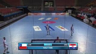 دیدار تیم های ملی هندبال شیلی و کرواسی در قهرمانی نوجوانان جهان2019