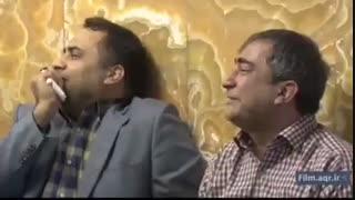 مداحی حاج منصور ارضی در حضور خانواده شهید حججی در حرم مطهر رضوی