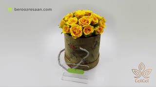 باکس گل رزهلندی استوانه ای گلی گل-به روز رسان