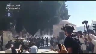 حمله به نمازگزاران در مسجدالاقصی