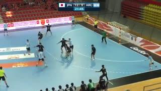 دیدار تیم های ملی هندبال ژاپن و آرژانتین در قهرمانی نوجوانان جهان2019
