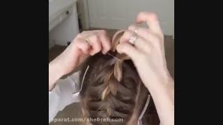 روش بافت مو بالای سر