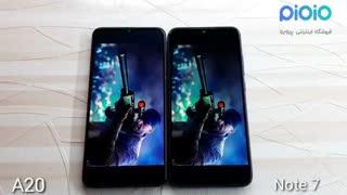 مقایسه گوشی سامسونگ Redmi Note 7 با شیائومی A20