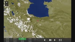 تصویر ماهواره ای هواشناسی ایران 24 مرداد 98