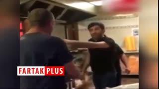 ویدئویی جنجالی از برخورد شهروند آمریکایی با دو ایرانی