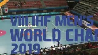 دیدار تیم های ملی هندبال کرواسی  و ژاپن در قهرمانی نوجوانان جهان2019