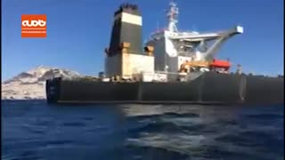 اهتزاز پرچم ایران برفراز نفتکش آدریان دریا