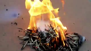 NEW: Amazing Fire Art Chain Reaction Video w/ Matches and More