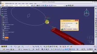 طراحی راکت تنیس در کتیا
