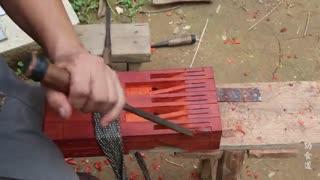 ساخت چهارپایه چوبی زیبا