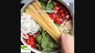 طرز تهیه یک پاستای خوشمزه و گیاهی - سبزی لاین