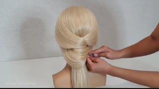آموزش مدل موی زنانه بسیار شیک و ساده