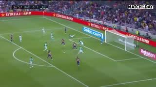 خلاصه بازی بارسلونا 5 - رئال بتیس 2 ( لالیگا اسپانیا )