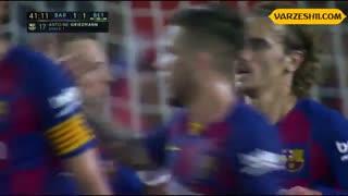 خلاصه بازی بارسلونا 5_2 رئال بتیس (هفتۀ 2 لالیگا اسپانیا)