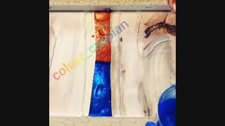 رنگ رزین آپوکسی با متالیک ترکیب شده