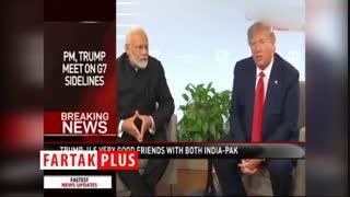 کنایه ترامپ به هندی صحبت کردن نخست وزیر هند