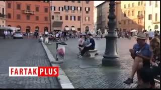 گزارش موبایلی حمید معصومینژاد از فالوده شیرازی در قلب رم