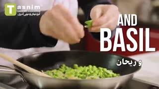 تزیین کوفته سبزیجات به شکل کیوی | فیلم آشپزی