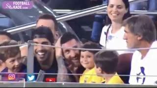 خوشحالی فرزند لیونل مسی از خراب شدن موقعیت گل بارسلونا