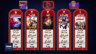 پنج فیلم پرفروش هفته - ۶ شهریور ۹۸