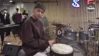 Drummer Boy V & JK - BTS بنگتن بمب بامزه وی و کوکی
