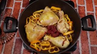 آشپزی - مرغ لایی با برنج زعفرانی