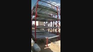 تایم لپس اجرا سقف عرشه فولادی