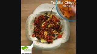 نحوه تهیه یک غذای بین الملل مکزیکی به نام باریتو - سبزی لاین