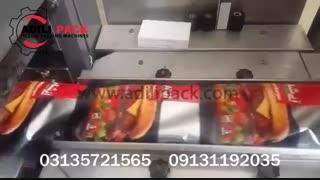 دستگاه بسته بندی همبرگر ماشین سازی عدیلی