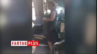 حمله وحشیانه زنان جوان به زن سالخورده در اتوبوس!