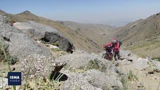 صعود به قله یخچال با دوچرخه