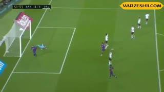 خلاصه بازی والنسیا 2_5 بارسلونا (هفتۀ چهارم لالیگا)