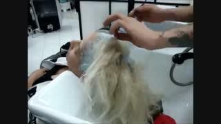 آموزش رنگ مو پلاتینه- مومیس مشاور و مرجع تخصصی مو