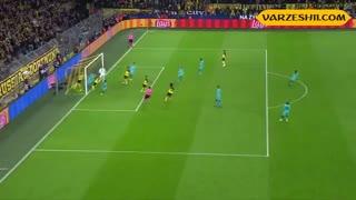 خلاصه بازی بورسیا دورتموند 0_0 بارسلونا (هفتۀ اول دور گروهی لیگ قهرمانان اروپا)