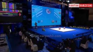 کسب مدال نقره حرکت دوضرب 55 کیلوگرم توسط حافظ قشقایی