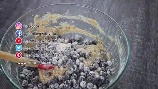 طرز تهیه نان میوه ای بلوبری