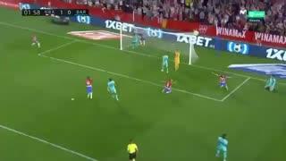 خلاصه بازی بارسلونا 0 -  گرانادا 2